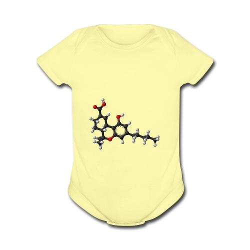 THC 3D balls - Organic Short Sleeve Baby Bodysuit