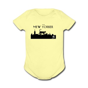 The Mew Yorker - Short Sleeve Baby Bodysuit