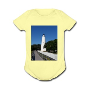 Ocracoke Lighthouse Daylight image - Short Sleeve Baby Bodysuit