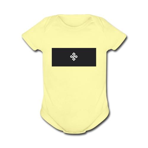 buddhism logo - Organic Short Sleeve Baby Bodysuit