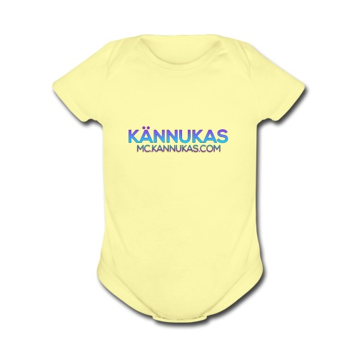 KännukaLogo - Organic Short Sleeve Baby Bodysuit