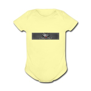 WolfBanner - Short Sleeve Baby Bodysuit
