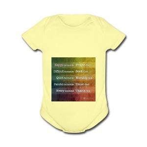 Bible - Short Sleeve Baby Bodysuit