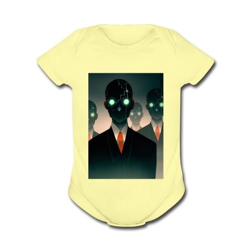 bladearmy2 - Organic Short Sleeve Baby Bodysuit