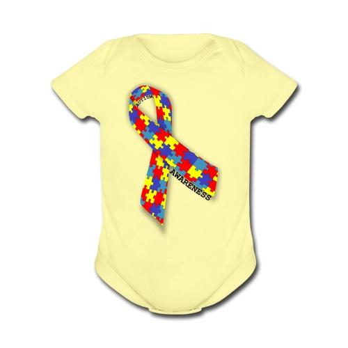 Austism Awareness - Organic Short Sleeve Baby Bodysuit