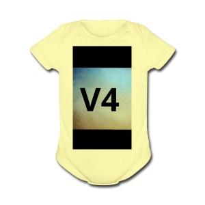 vintage v4 - Short Sleeve Baby Bodysuit