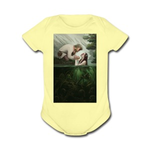 Dont fall in the trap - Short Sleeve Baby Bodysuit