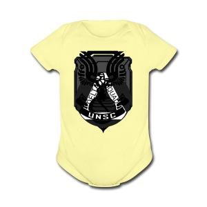 Delta Emblem - Short Sleeve Baby Bodysuit