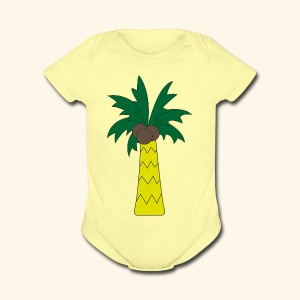 Palm tree - Short Sleeve Baby Bodysuit