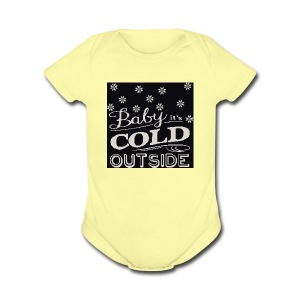 baby its cold outside 200 x 200 - Short Sleeve Baby Bodysuit