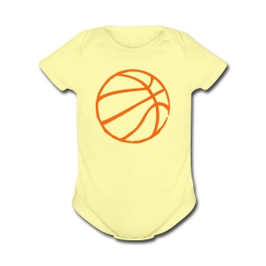 Basketball Raw Lines - Short Sleeve Baby Bodysuit