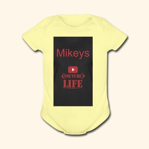Mikeys - Organic Short Sleeve Baby Bodysuit