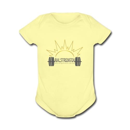 AM_Strength - Organic Short Sleeve Baby Bodysuit