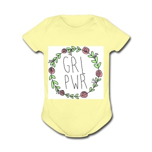 Girly and empowering - Short Sleeve Baby Bodysuit