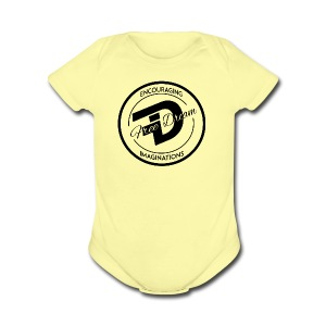 FREE DREAM BADGE - Short Sleeve Baby Bodysuit