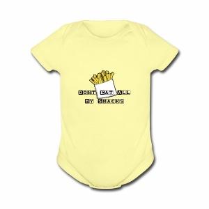 Dont Eat All My Snacks - Short Sleeve Baby Bodysuit