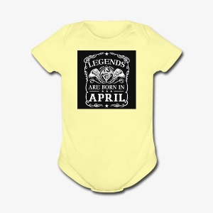 April - Short Sleeve Baby Bodysuit