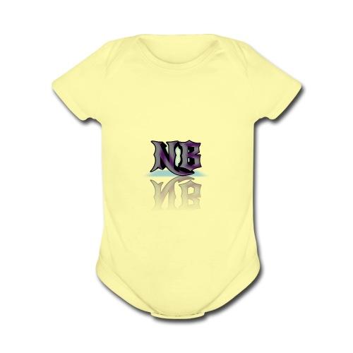 NEWBorn Name tag - Organic Short Sleeve Baby Bodysuit