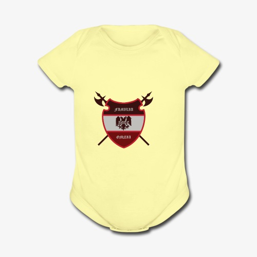 House Pendragon Crest - Family Before All - Organic Short Sleeve Baby Bodysuit
