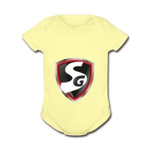 Original SimboiiGamer Logo - Short Sleeve Baby Bodysuit