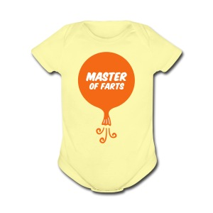 Master of Farts (2 color) - Short Sleeve Baby Bodysuit