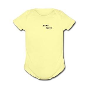 SkilletSquad Longsleve logo - Short Sleeve Baby Bodysuit