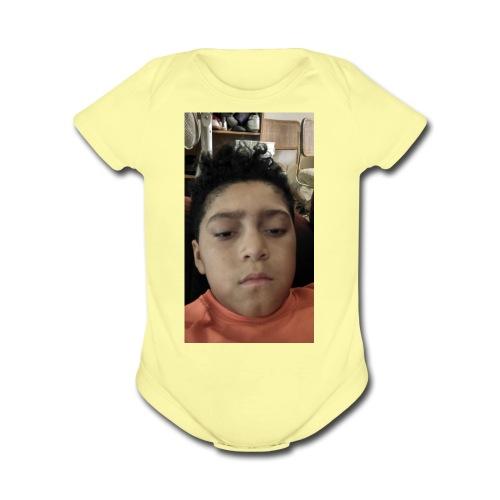 Jordan - Organic Short Sleeve Baby Bodysuit