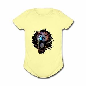 Galaxy Lion - Short Sleeve Baby Bodysuit