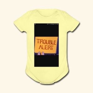 Trouble alert from troublemakers cool merches lean - Short Sleeve Baby Bodysuit