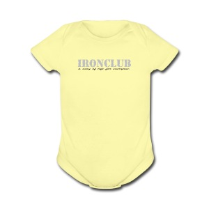 Ironclub - a way of life for everyone - Short Sleeve Baby Bodysuit