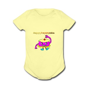 happyhappycake - Short Sleeve Baby Bodysuit