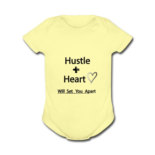 Hustle + Heart - Organic Short Sleeve Baby Bodysuit