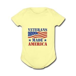 Veterans Made America logo - Short Sleeve Baby Bodysuit
