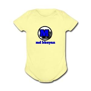 md bhuyan dab bro - Short Sleeve Baby Bodysuit