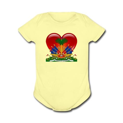haiti - Organic Short Sleeve Baby Bodysuit
