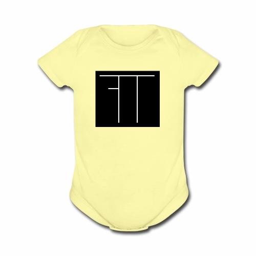 Funny Twin Logo - Organic Short Sleeve Baby Bodysuit
