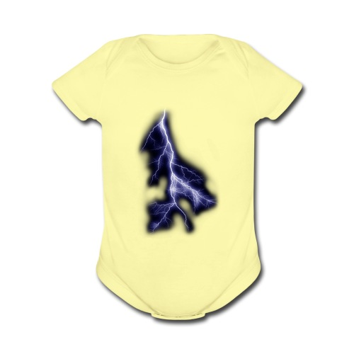 lightning bolt - Organic Short Sleeve Baby Bodysuit