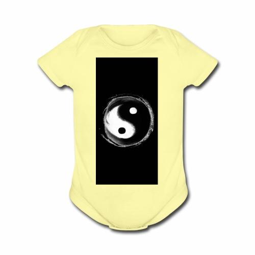 Diamond savage yin yang - Organic Short Sleeve Baby Bodysuit
