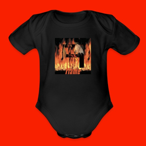 FAJ Flame Merch - Organic Short Sleeve Baby Bodysuit