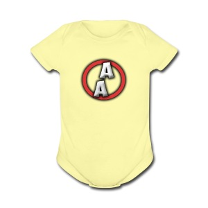 AAsquad Gaming Logo - Short Sleeve Baby Bodysuit