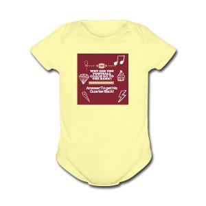 Football Joke - Short Sleeve Baby Bodysuit