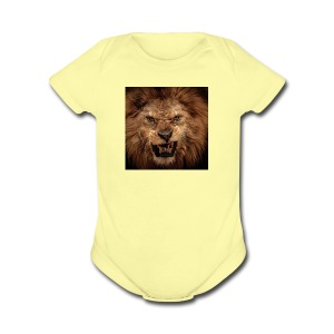 King of the jungle - Short Sleeve Baby Bodysuit