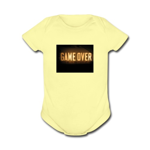 game-over tops ect - Organic Short Sleeve Baby Bodysuit