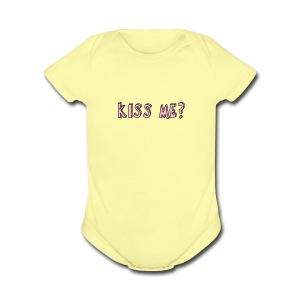 Kiss me? tank tops - Short Sleeve Baby Bodysuit