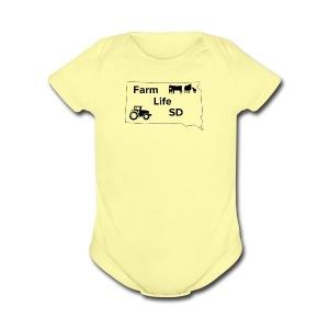 Farm Life SDs Main Logo - Short Sleeve Baby Bodysuit