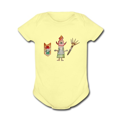 spirit wizard - Organic Short Sleeve Baby Bodysuit