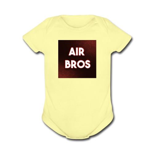 Black merch AIR BROS - Organic Short Sleeve Baby Bodysuit