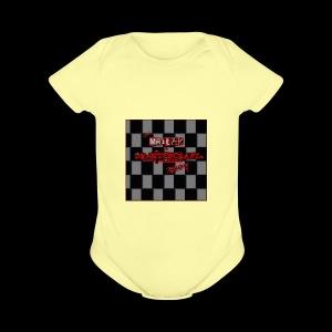 Mr blak & Dr Bitchcraft shirt - Short Sleeve Baby Bodysuit