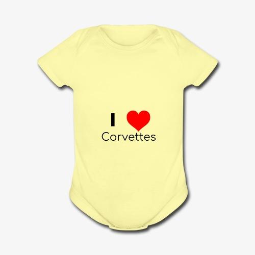 I luv Corvettes - Organic Short Sleeve Baby Bodysuit