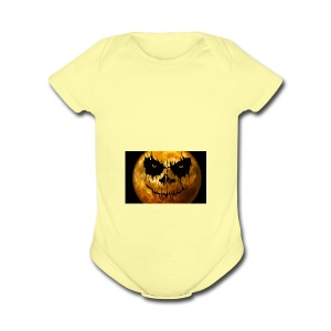 moon for halloween - Short Sleeve Baby Bodysuit